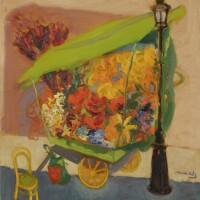 7. emmanuel mane-katz | flower-cart beside lamp-post