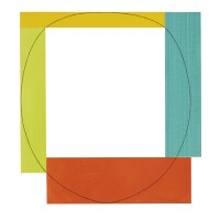 124. robert mangold | study for 4 color frame painting#7