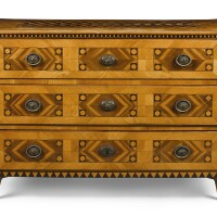 40. a south german or austrian neoclassical figured cherry and parquetry commode, late 18th century