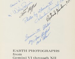 75. photographs taken by the gemini astronauts - two volumes, eight astronaut signatures