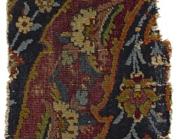 37. an isphahan carpet fragment