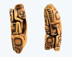 86. amulette en ivoire marin, côte nord-ouest, canada |