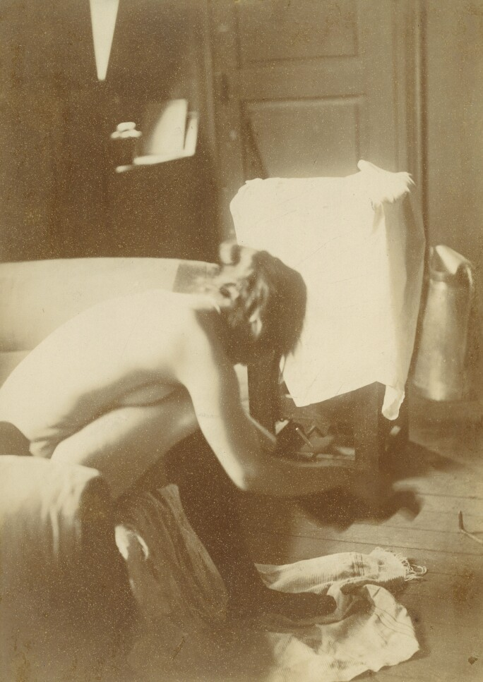 Nude Photographic Study by Degas, 1895 (silver print photograph)