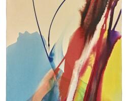 75. paul jenkins (1923 - 2012)   phenomena banner blue, 1969