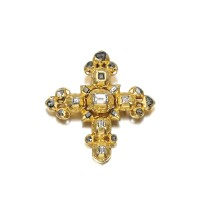 4. gold and diamond cross pendant, probably iberian, ,late 17th/ early 18th century