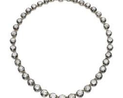19. diamond necklace, early 20th century