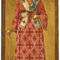 589. saint archdeacon stephan, russian, 19th century