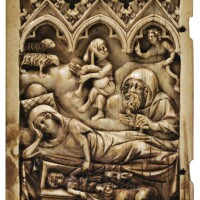 5. french or german, 14th century, | left leaf of a diptych with the nativity