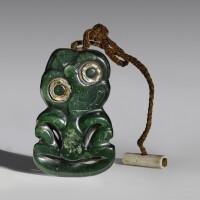 25. maori nephrite pendant, new zealand