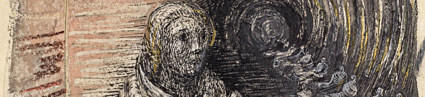 Henry Moore shelter drawing