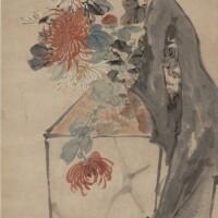 1006. 趙之琛 1781-1852 | 菊花奇石
