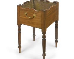 4. a regencymahogany jardinière circa 1805, in the manner of gillows