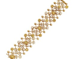 531. gold, heliodor and diamond bracelet, schlumberger for tiffany & co.