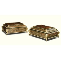 10. a pair of gilt-bronze-mounted boulle marquetry caskets napoleon iii, circa 1860