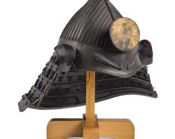 1. a rare 32-plate momonarisuji-bachi kabuto [helmet] edo period, 17th century |