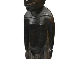 161. rapa nui male statuette (moai miro), easter island