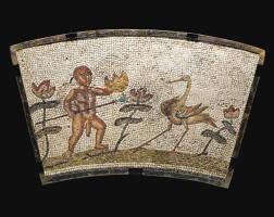 59. a roman nilotic mosaic fragment, circa 2nd century a.d. | a roman nilotic mosaic fragment