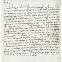 46. large document, by which the chapter of arras cathedral revises its statutes, in latin, dated june 1277