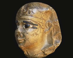 4. an egyptian indurated limestone head of a king, early ptolemaic period, circa 305-200 b.c.