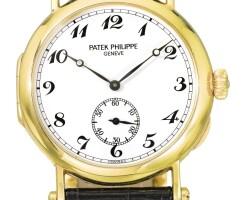 40. 百達翡麗(patek philippe) | 3960型號黃金腕錶,1989年製。