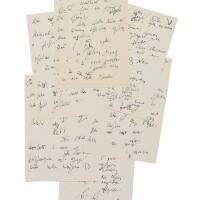 """327. yevtushenko, yevgeni. an early draft of the poet's most celebrated poem, """"babi yar"""""""