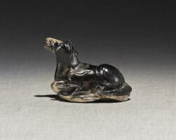 217. a black jade figure of a 'heavenly horse' ming dynasty  