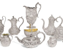 708. an american matched silver tea and coffee service and water jug, s. kirk & son/s. kirk son, & co., baltimore, second half of the 19th century/early 20th century