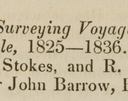 370. darwin, charles--fitzroy, robert, communicated by sir johnbarrow