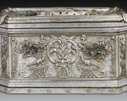 1. a german wrought iron strong box attributed to johan gottlieb dittman & sigmund gatchen second quarter 18th century