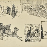 12. jack b. yeats, r.h.a. | barnet fair - buying a trap from a stranger