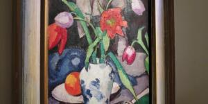 Samuel John Peploe, Still Life of Tulips and Fan