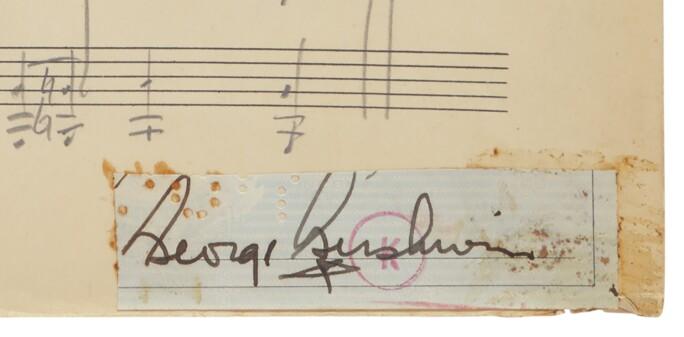 George Gershwin's Autograph
