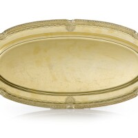 8. a russian gilded silver oval serving dish from the orlov service, nichols and plinke, st. petersburg, 1859