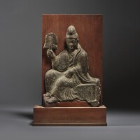 9. a limestone relief fragment of vimalakirti northern wei dynasty |