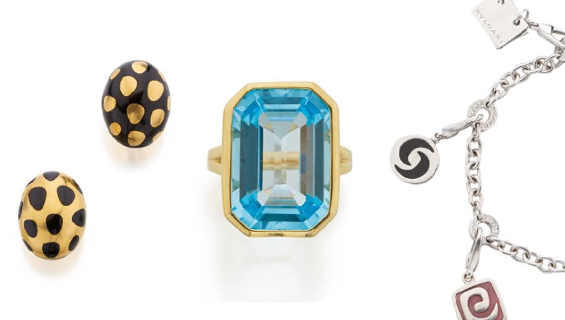 Designer earrings, ring and charm bracelet, all under $5,000