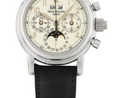 211. 百達翡麗(patek philippe) | 5004型號鉑金萬年曆追針計時腕錶備月相、閏年及24小時顯示,1996年製。
