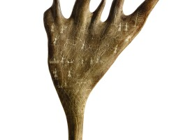 3002. a chukchi carving of a moose antler 19th century |