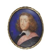 5. john hoskins   portraitofa gentleman,traditionally identified as sir edmund berry godfrey (1621-1678), circa 1655