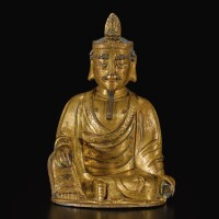 303. a gilt-bronze figure of avalokiteshvara ming dynasty, 16th / 17th century |