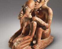 10. djennéterracotta male and female couple, circa 13th - 15th century,mali