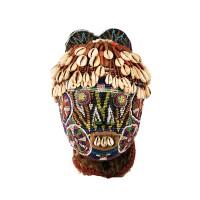90. magnifique tête perlée, région de dschang, ouest du pays bamiléké, cameroun