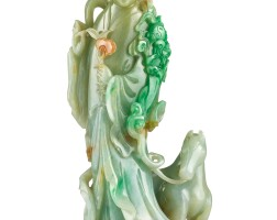 3667. a large jadeite figure of an immortal late qing dynasty |