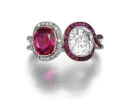 338. ruby and diamond ring, circa 1910