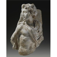 74. a marble relief fragment, roman imperial , circa a.d. 250-270