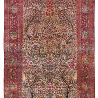 193. a kashan silk carpet, central persia