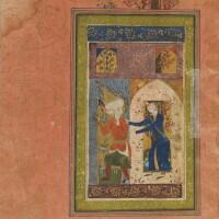 9. manuscrit de poésie persane : yusuf va zulaikha de nur al-din abd al-rahman jami (1414-1492), calligraphié par sultan muhammad khandan, iran, art safavide, daté 923h./1516-7