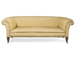 22. a victorianupholstered sofa, late 19th century