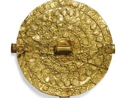 25. pectoral en or, baulé, côte d'ivoire  