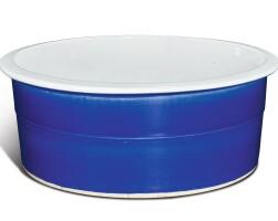 44. 清十九世紀 藍釉折沿盆 |