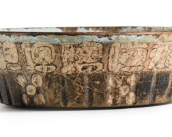 3. bol à décor de glyphes et fleursculture mayaclassique récent, 550-950 ap. j.-c. |